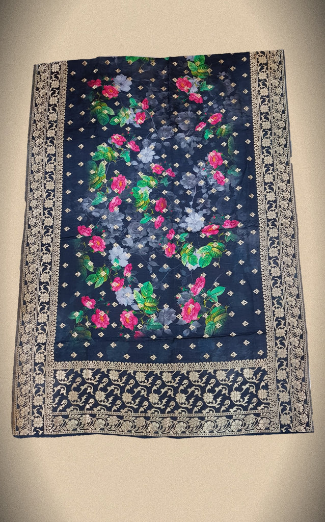Floral Opara Soft Silk Brocade Banarasi Dupatta - DP00011 - ALL MY WISH