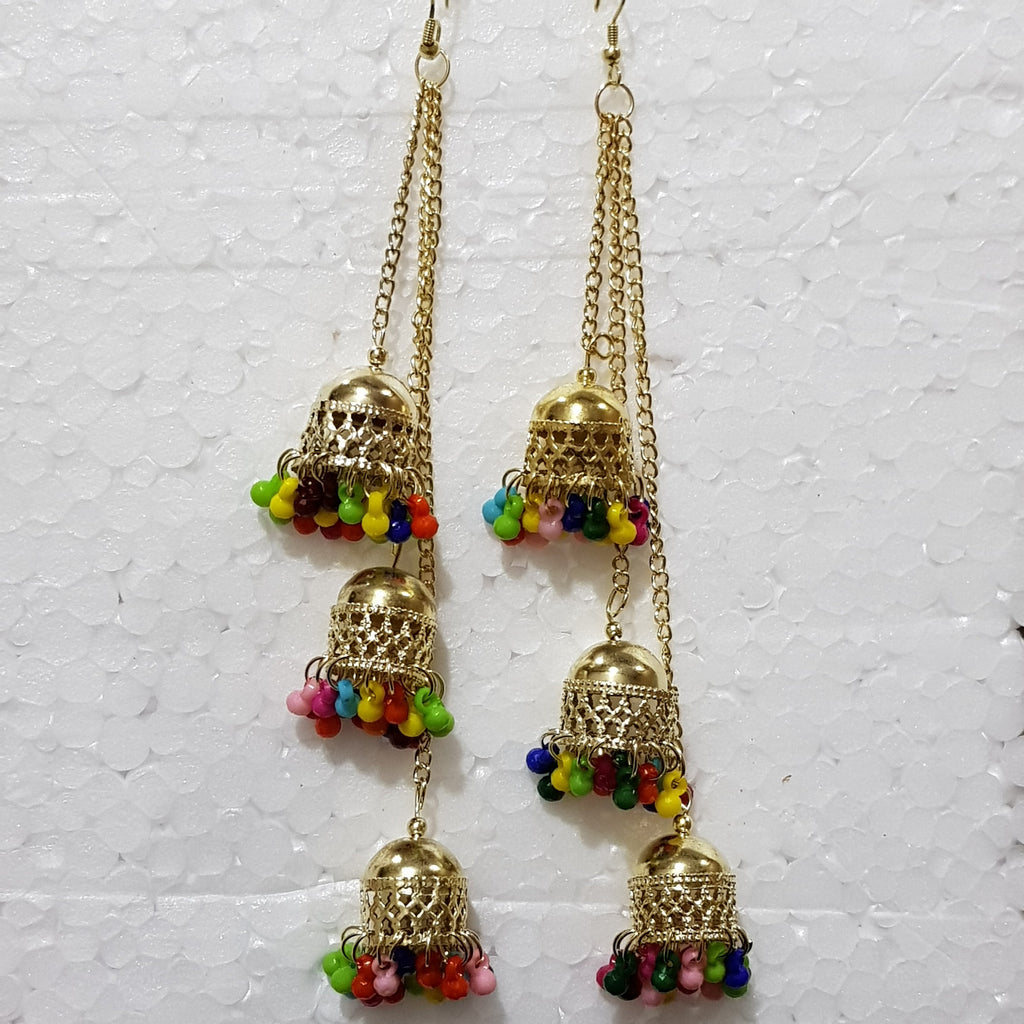 Gold Jhumki - E00019 - ALL MY WISH