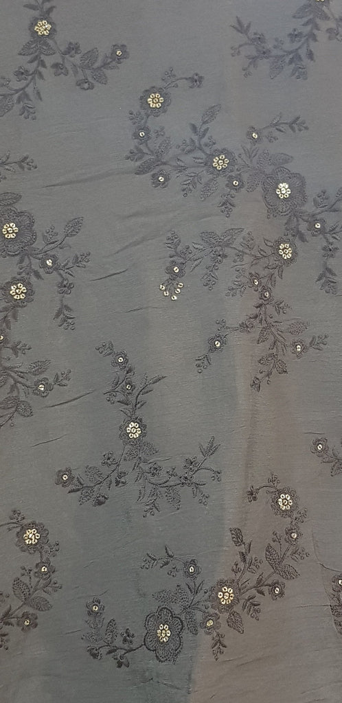 Embroidered Chinon Fabric - F00129 - ALL MY WISH