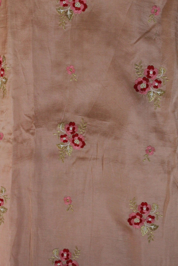 Embroidered Opara Silk Fabric - F00137 - ALL MY WISH