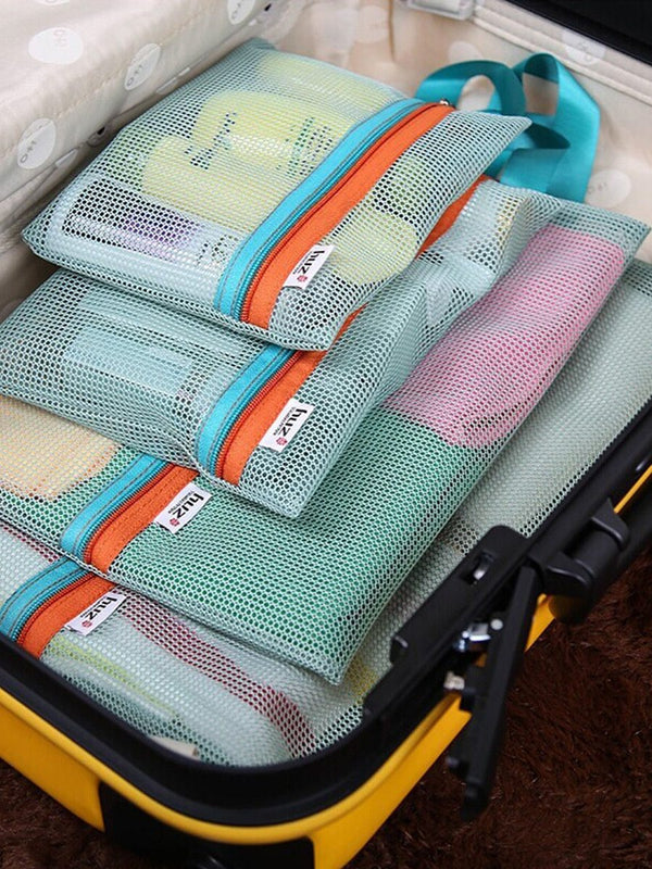 4 Pcs Travel Mesh Bag - H00055 - ALL MY WISH