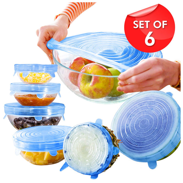 Silicone Lid (Random Color) - 6 Pc Set - H00070 - ALL MY WISH