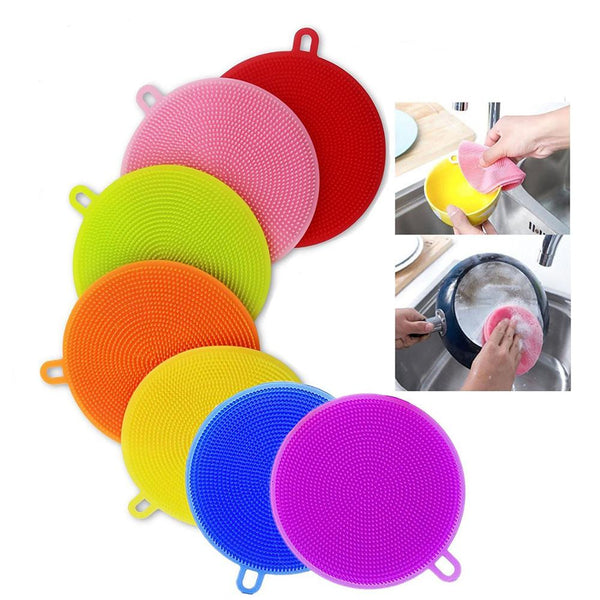 Silicone Dishwashing Scrubber (5 Pcs Set) - H00090 - ALL MY WISH