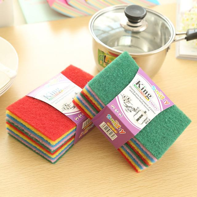 10 Pcs Colorful Scrubber Pad Multi Use - H00091 - ALL MY WISH