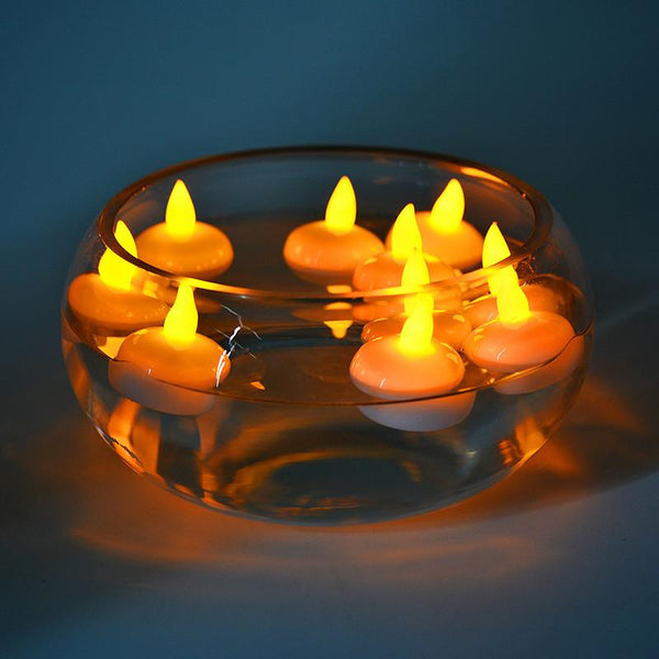 10 Pcs Sensor Floating LED Candles (Multi Color Lights) - H00093 - ALL MY WISH