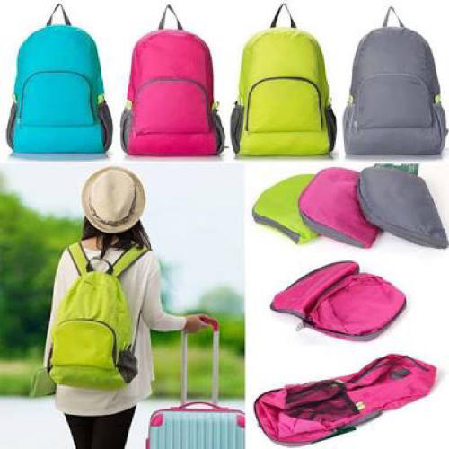 Foldable Backpack Bag (Random Colour) - H00112 - ALL MY WISH