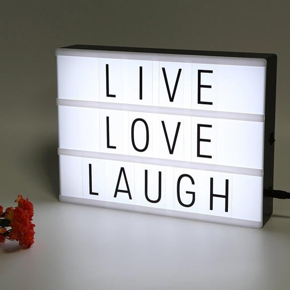 A4 LED Cinematic Light Box with Letters and Symbols - H00119 - ALL MY WISH