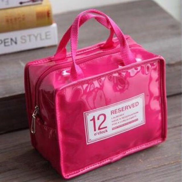 12o'clock Fashion Insulated Lunch Bag (Pink) - H00124 - ALL MY WISH