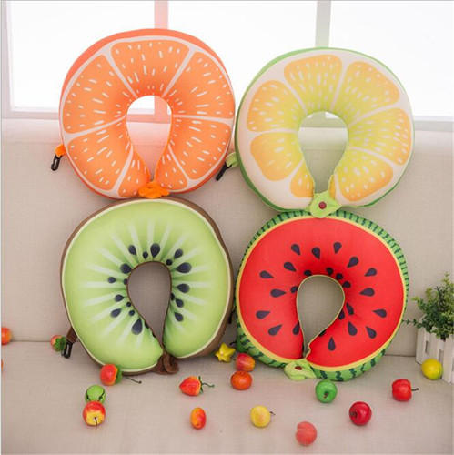 Fruit Design Neck Pillow (Random Print) - H00129 - ALL MY WISH