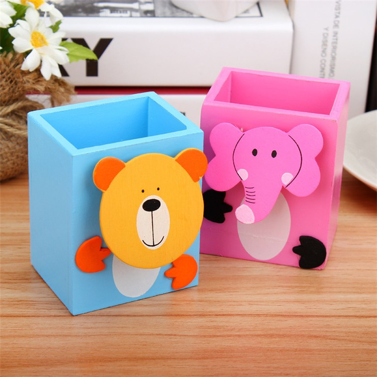 Cartoon Animal Pen Stand – 2 Pc Set (Random Models) - H00131 - ALL MY WISH