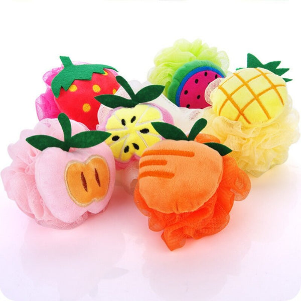 Cute Fruit Shape Baby Bath Flower Loofah ( Random ) - H00154 - ALL MY WISH
