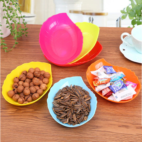 Pack Of 6 Leaf Shaped Snacks Plate (Random) - H00157 - ALL MY WISH