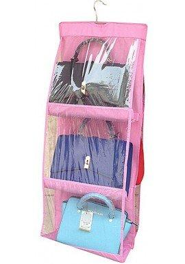 6 Pocket Handbag Organizer Pink - H00159 - ALL MY WISH