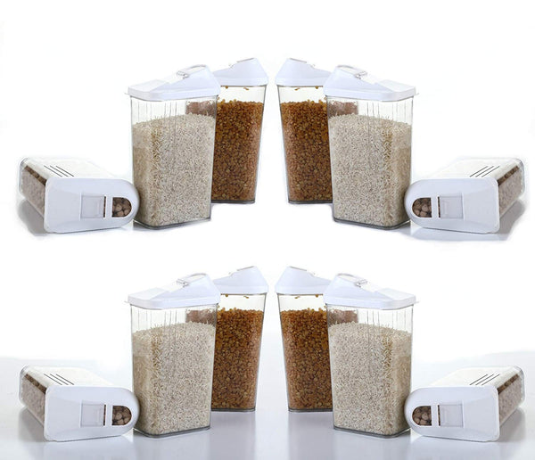 750 Ml Cereal Dispenser Easy Flow Storage Jar (Set Of 6) - H00181 - ALL MY WISH