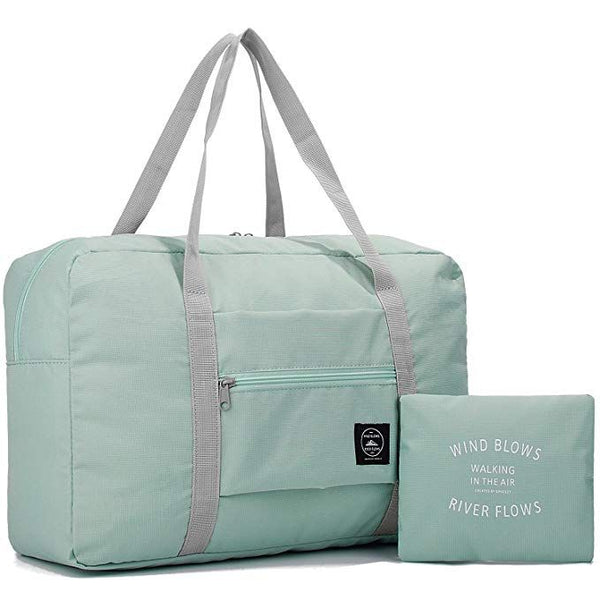 Wind Blows Waterproof Foldable Luggage Bag (Mint Green) - H00188 - ALL MY WISH