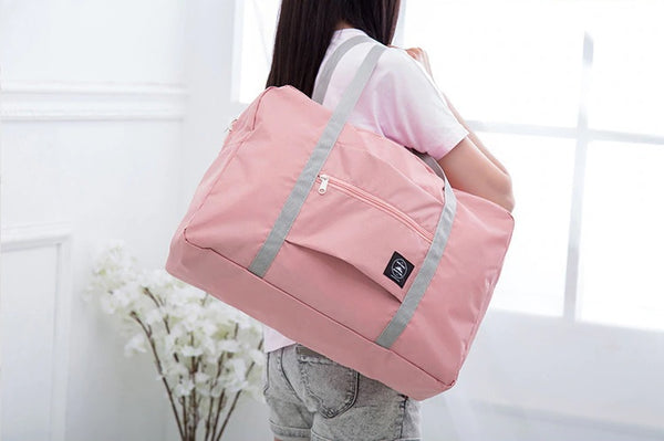 Wind Blows Waterproof Foldable Luggage Bag (Peach)- H00202 - ALL MY WISH
