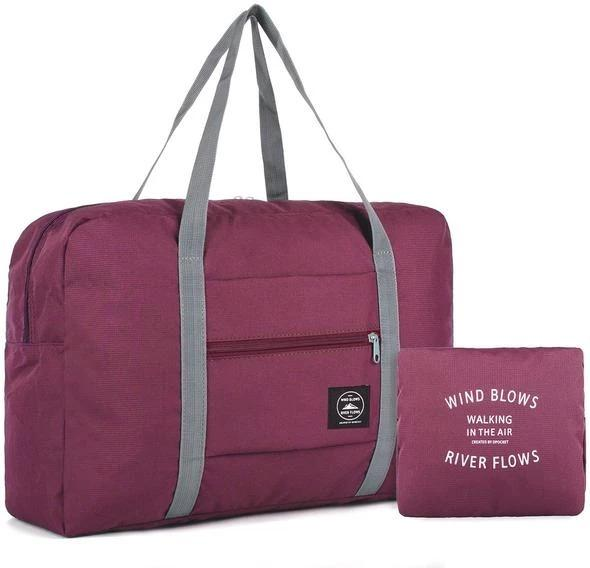 Wind Blows Waterproof Foldable Luggage Bag(Wine) - H00203 - ALL MY WISH