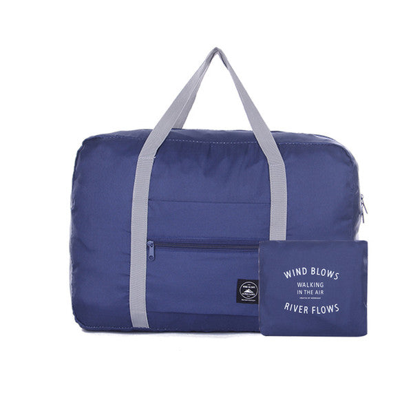 Wind Blows Waterproof Foldable Luggage Bag (Blue) - H00204 - ALL MY WISH
