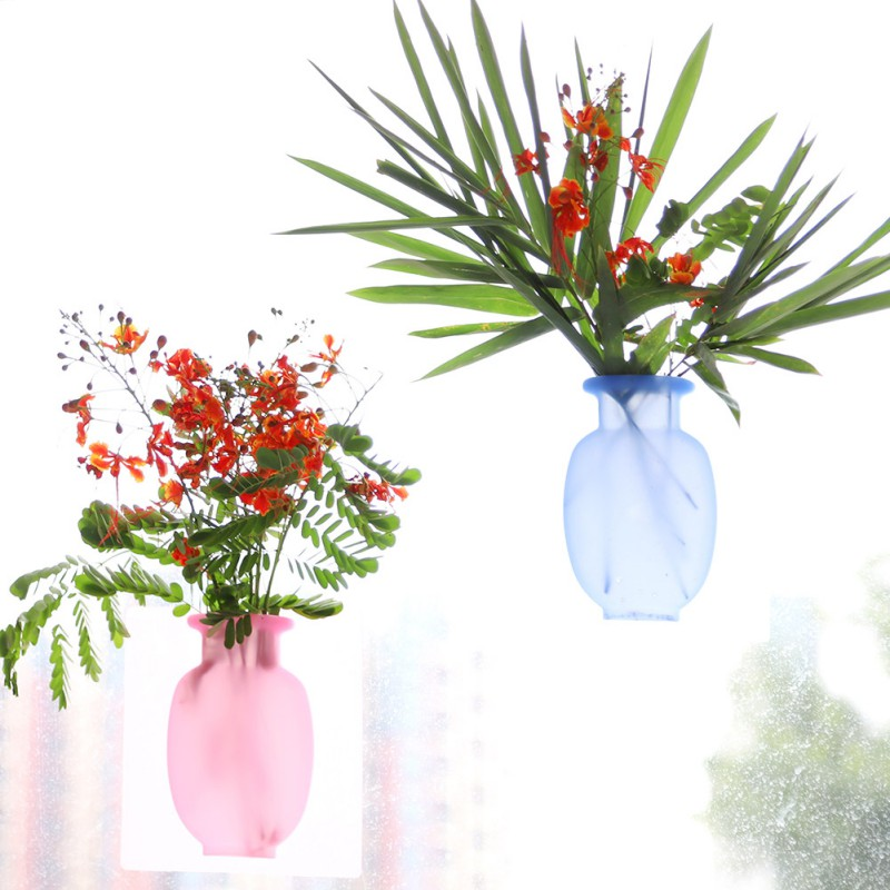 Removable Silicone Flower Vases (Pack Of 2 Pcs) - H00212 - ALL MY WISH
