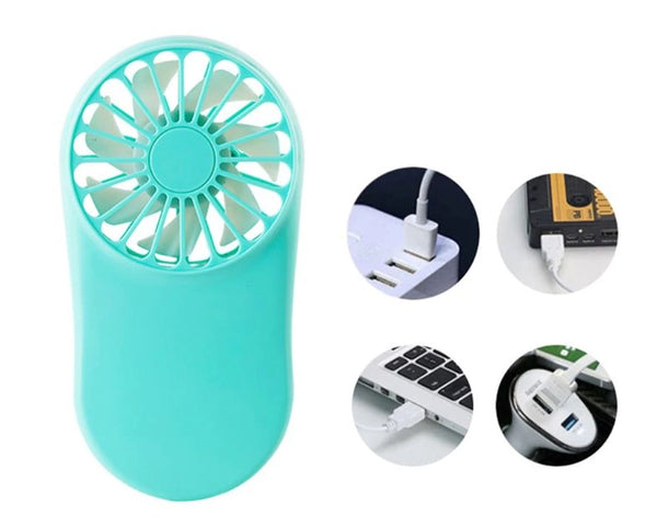 Rechargeable Light Weight Ultra Thin USB Mini Hand Fan - H00213 - ALL MY WISH