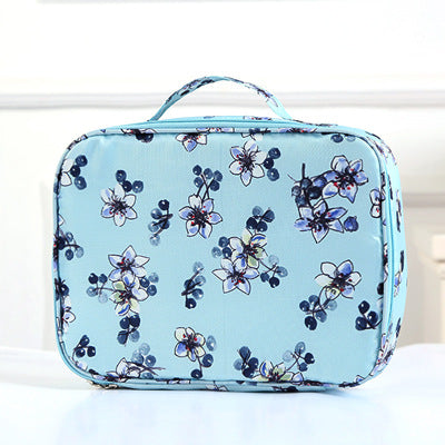 Multi Travel Pouch Heavy - Blue Flower - H00222 - ALL MY WISH