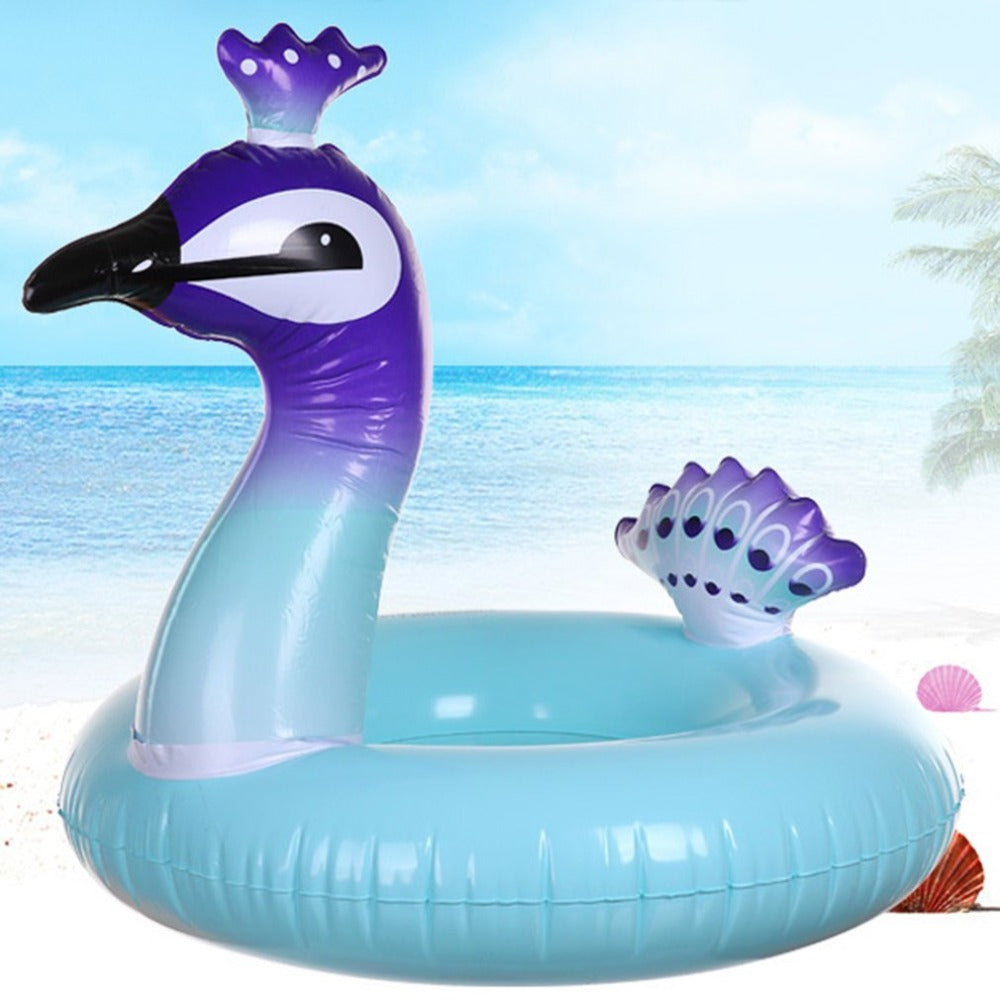 Peacock Kids Swimming Ring Seat Boat - H00235 - ALL MY WISH