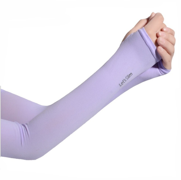 Let's slim Hand Cover Cool Arm Sleeves (Mauve) - H00244 - ALL MY WISH