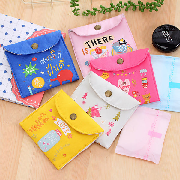 Sanitary Napkin Pouch Heavy Quality (Pack Of 2 Pcs) - H00250 - ALL MY WISH