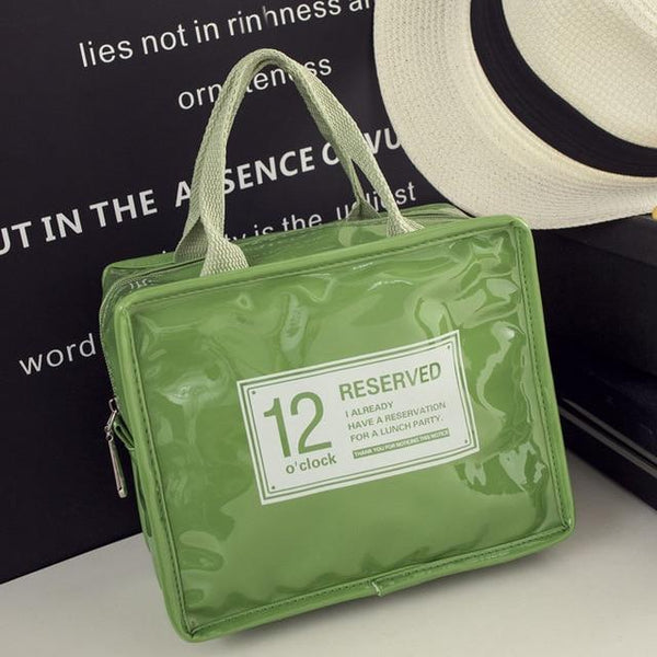 12o'clock Fashion Insulated Lunch Bag (Green) - H00253 - ALL MY WISH