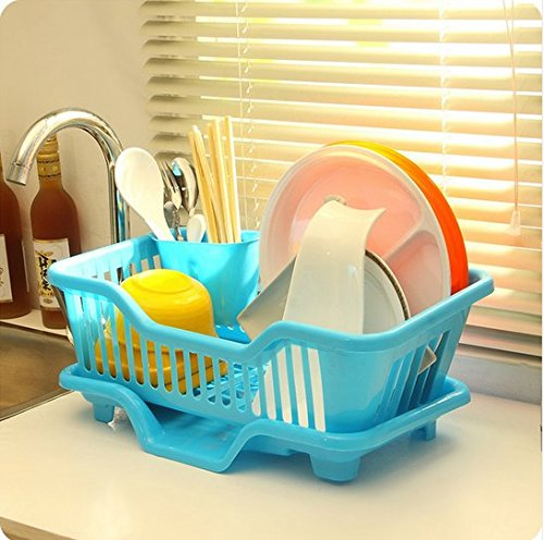 Small Plastic Sink Dish Drainer Drying Rack  - H00260 - ALL MY WISH