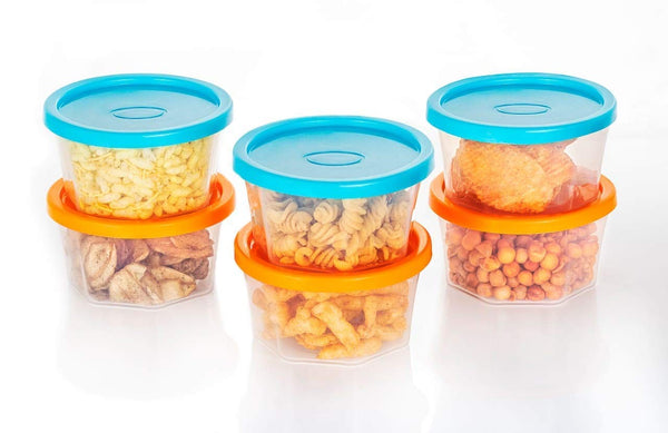 Plastic Container Set, 200ml, Set of 6 - H00298 - ALL MY WISH