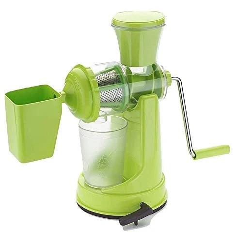 Manual Fruit Vegetable Juicer with Juice Cup and Waste Collector - H00303 - ALL MY WISH