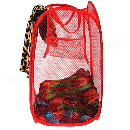 Mesh Fabric Foldable Storage Pop Up Clothes Basket - H00366 - ALL MY WISH
