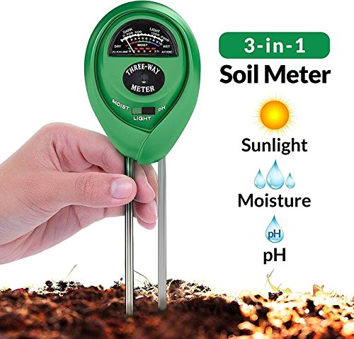 Soil Tester 3-in-1 Plant Moisture Sensor (Green) - H00375 - ALL MY WISH