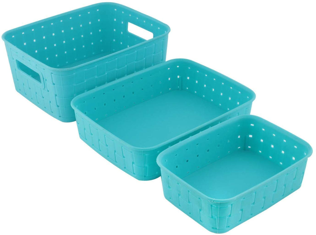 Smart Baskets for Storage(Set of 3) Sky Blue - H00389 - ALL MY WISH