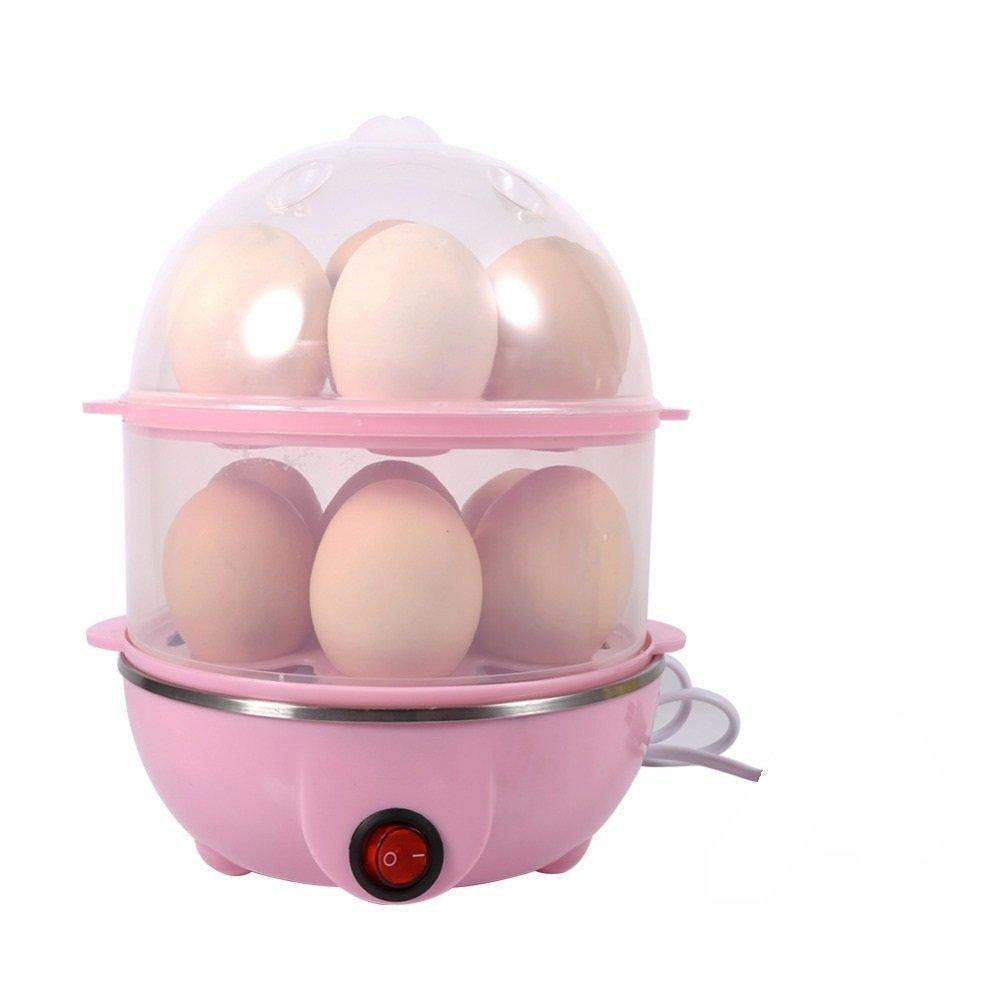 2 Layer 14 Eggs Cooker Boilers & Steamer - H00395 - ALL MY WISH