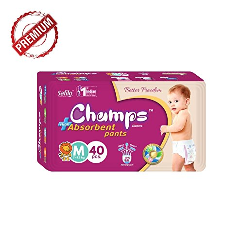 Premium Champs High Absorbent Pant Style Diaper Medium Size, 40 Pieces - H00435 - ALL MY WISH