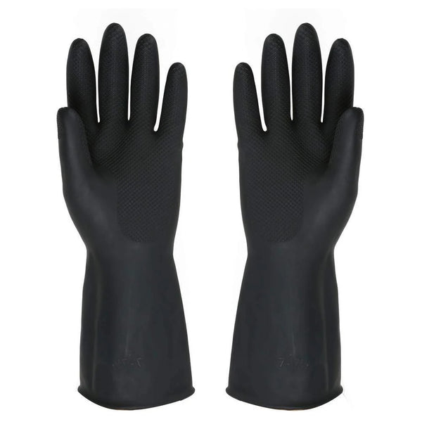 Heavy Reusable Rubber Hand Gloves (Black)  - H00519 - ALL MY WISH