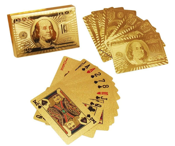 Gold Plated Playing Cards (Golden) - H00532 - ALL MY WISH