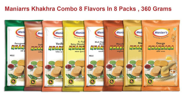 Mix Flavour Khakhras (Pack of 8) - H00629 - ALL MY WISH