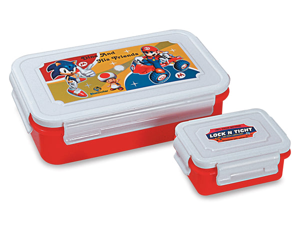 Cartoon Printed Lock & Tight 850ml Lunch Box (1 Pc ) - H00640 - ALL MY WISH