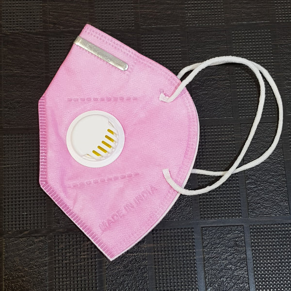 Pink KN95 Mask With Breathing Valve - H00641 - ALL MY WISH