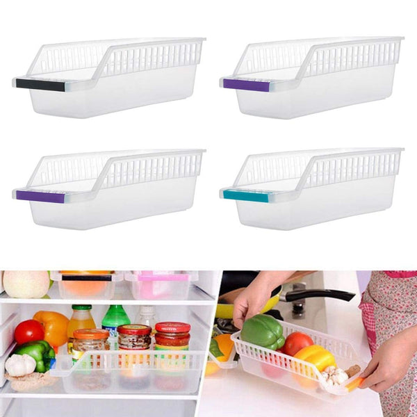 Kitchen Plastic Space Saver Organizer Basket Rack- 4 pcs - H00664 - ALL MY WISH
