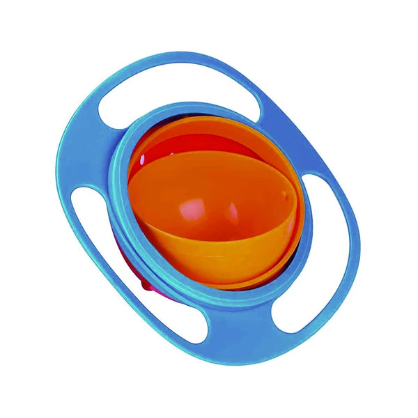 Portable Non Spill Feeding Toddler Gyro Bowl 360 Degree Rotating Dish - H00687 - ALL MY WISH