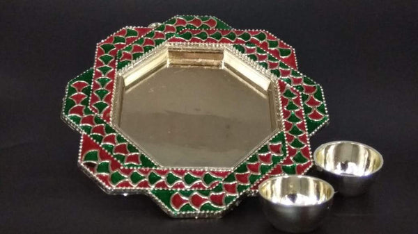 Hexagon Pooja Thali ( ABS Plastic ) - H00725 - ALL MY WISH