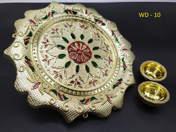 Pooja Thali  (18 Cm) - H00748 - ALL MY WISH