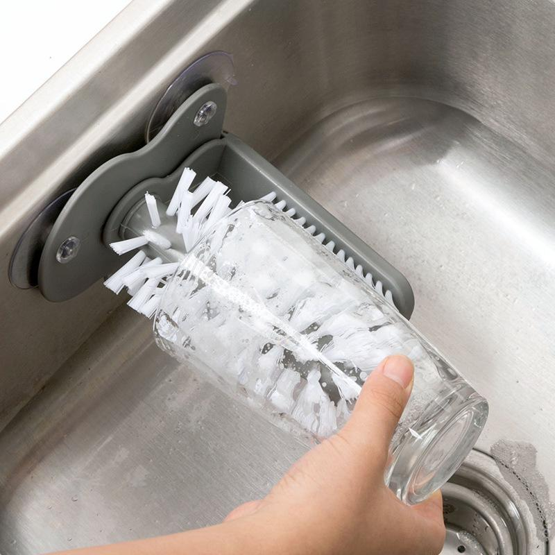 Glass Washing Brush With Suction - H00757 - ALL MY WISH
