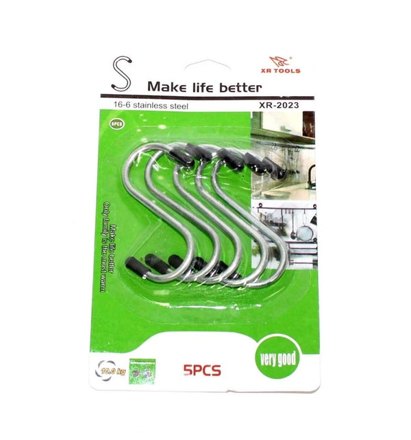 Heavy Duty S-Shaped Stainless Steel Hanging Hooks - 5 pcs - H00759 - ALL MY WISH