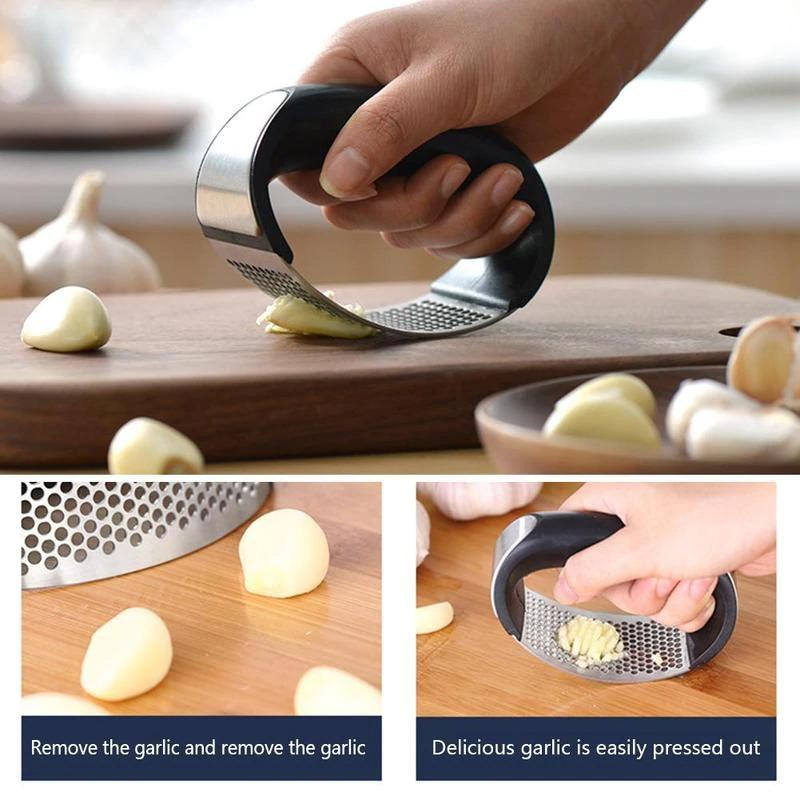 Stainless Steel Garlic Press Chopper Crusher - H00769 - ALL MY WISH