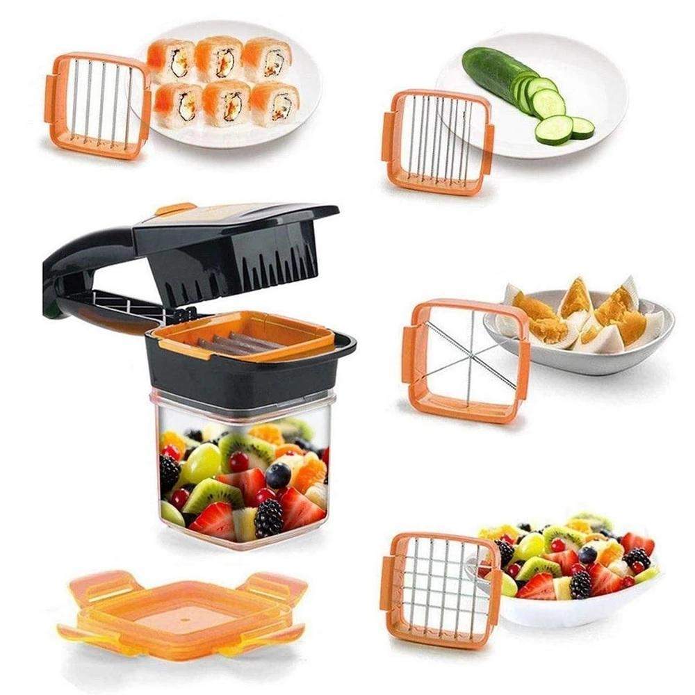 5 in 1 Multifunction Vegetable Cutter Manual Dicer with Container Box - H00779 - ALL MY WISH